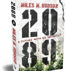 Picture of Miles Hudson's novel 2089 in paperback