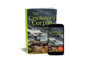 Cover image for The Cricketer's Corpse by Miles Hudson shown on paperback and ebook