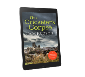 Cover image for The Cricketer's Corpse by Miles Hudson shown on tablet ereader