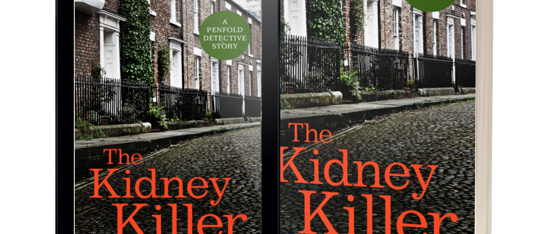 Paperback and tablet cover image for The Kidney Killer by M M Hudosn
